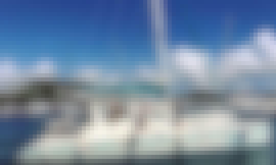 Sailing on 50ft CATAMARAN in the Spanish Virgin Islands!