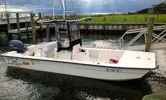 17ft Flat Boat Fishing Charter in Harkers Island, North Carolina