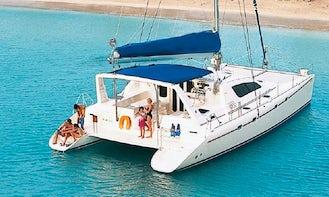 Full Day. Reserve a Luxury 47' Leopard Catamaran in St. Thomas, USVI