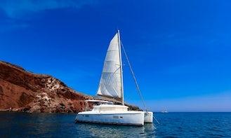 Catamaran Cruise in Santorini for 5 hours