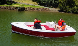Brand New 7 Seater Electric Boat for Rent on Kerikeri River