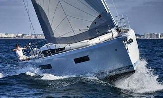 Super Fresh Jeanneau Sun Odyssey 440 Sailing Yacht Charter in Skiathos, Greece
