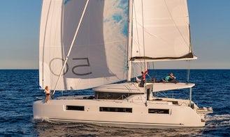 12-Guest Lagoon 50 Catamaran Bareboat Charter in Corfu, Greece