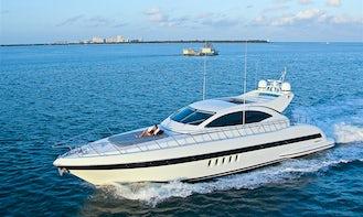 Magnificent 72' Mangusta Luxury Motor Yacht in Miami