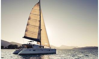 Crewed Charter on S/CAT Twin Pride Lagoon 500 Sailing Catamaran in Alimos, Greece