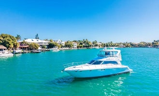FALL SPECIAL BOOK MINIMUM 4 HOURS AND GET EXTRA HOUR ON US!!! Enjoy Miami by water on a 51' Sea Ray Fly bridge,   You only pay $250 per hour to book, and $170 per hour for capt/mate fuel and cleaning direct to Captain prior charter day. Your Yacht comes with giant floating mat