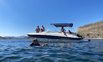 Very Roomy 22' Bayliner Boat Rental in Lake Pleasant!