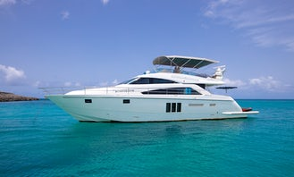 Incredible Fairline 65' Luxury Yacht for Charter in Sint Maarten