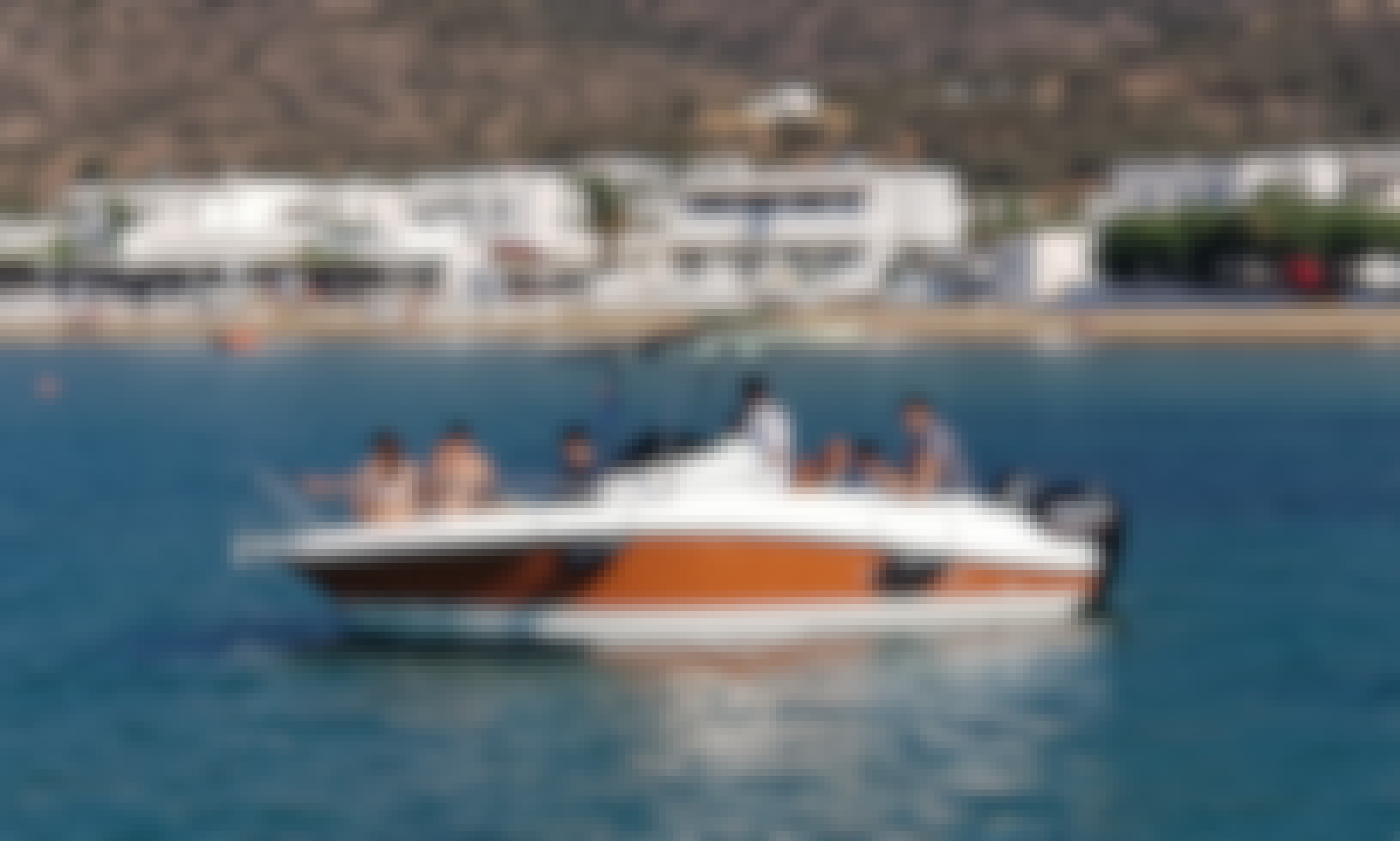 Blu water 640 with Mercury 150hp.Rent it with skipper,or with your licence!