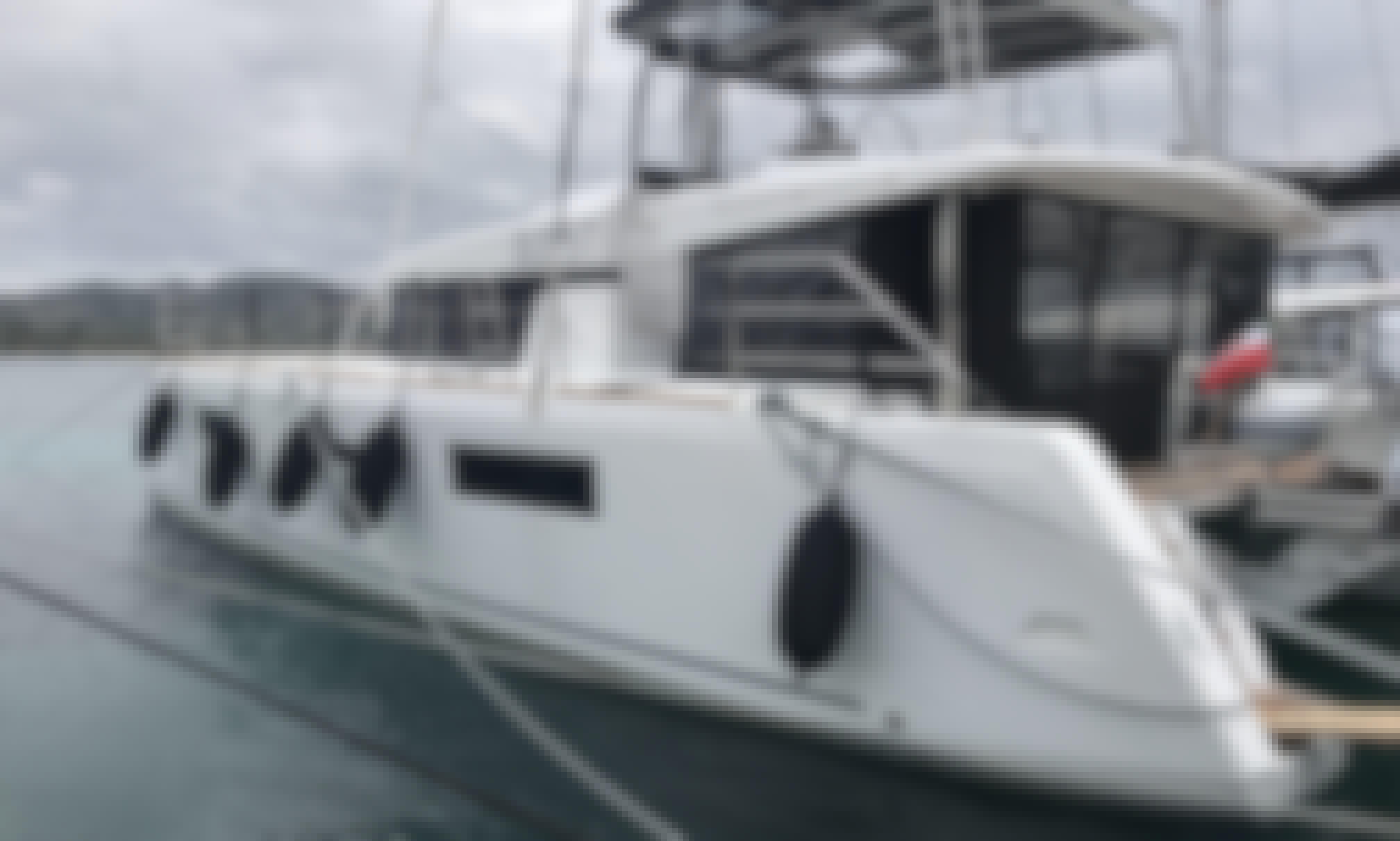 Luxury Lagoon 52 Cruising Catamaran for 14 People in Olbia, Sardinia