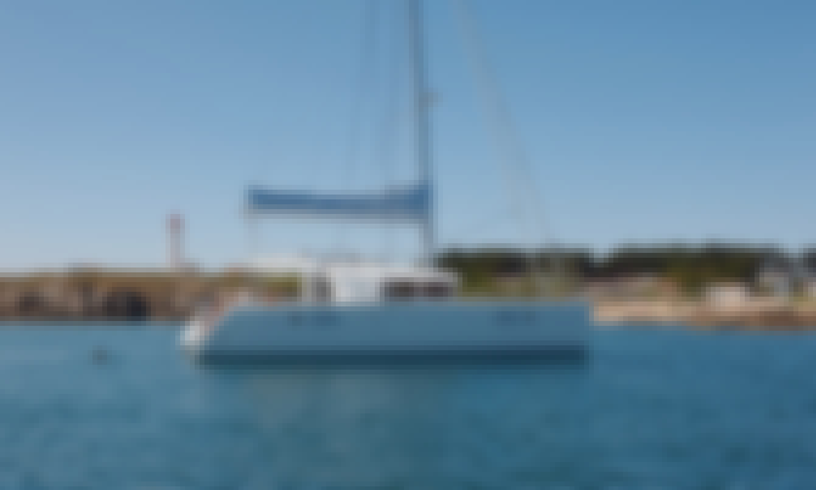 Twin Engine Lagoon 450 Flybridge Catamaran Charter in Olbia, Sardinia
