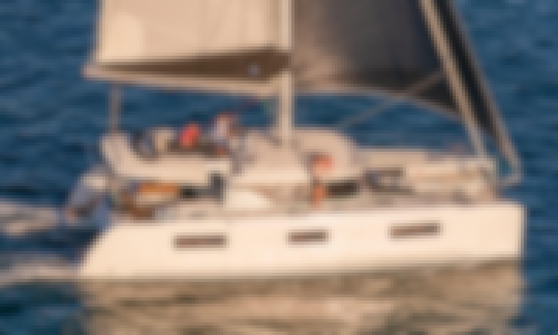 Super Fresh 2021 Lagoon 46 Cruising Catamaran in Olbia, Sardinia