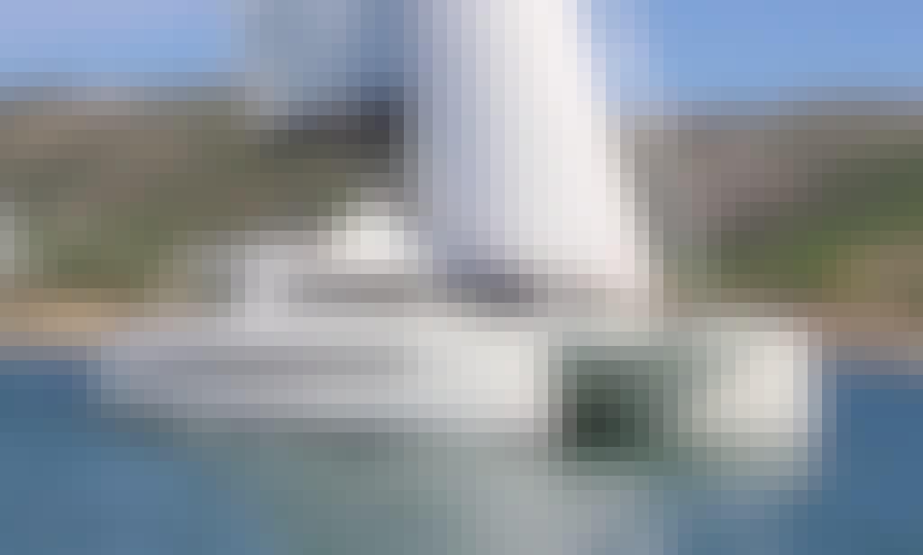 """""""Amura"""" Bali 5.4 Open Space Sailing Catamaran Rental in Ibiza, Spain"""
