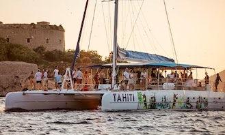 Tahiti 80 Sailing Catamaran Rental in Marina Solila, Montenegro