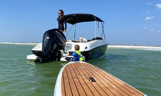 18' Bayliner Element for 9 People in St. Petersburg, Clearwater, and Tampa! (10% Weekday Discount!!)