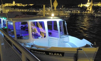 Romantic proposal or rendez-vous boat trip on the Danube