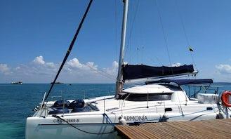 Charter the 36' Fountaine Pajot Tobago Cruising Catamaran in Cartagena, Colombia