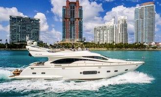Luxurious 80' Mega Yacht Rental in Miami Beach, Florida