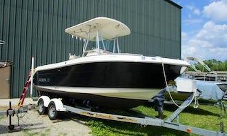 Robalo R220 Center Console Boat on Lake Minnetonka