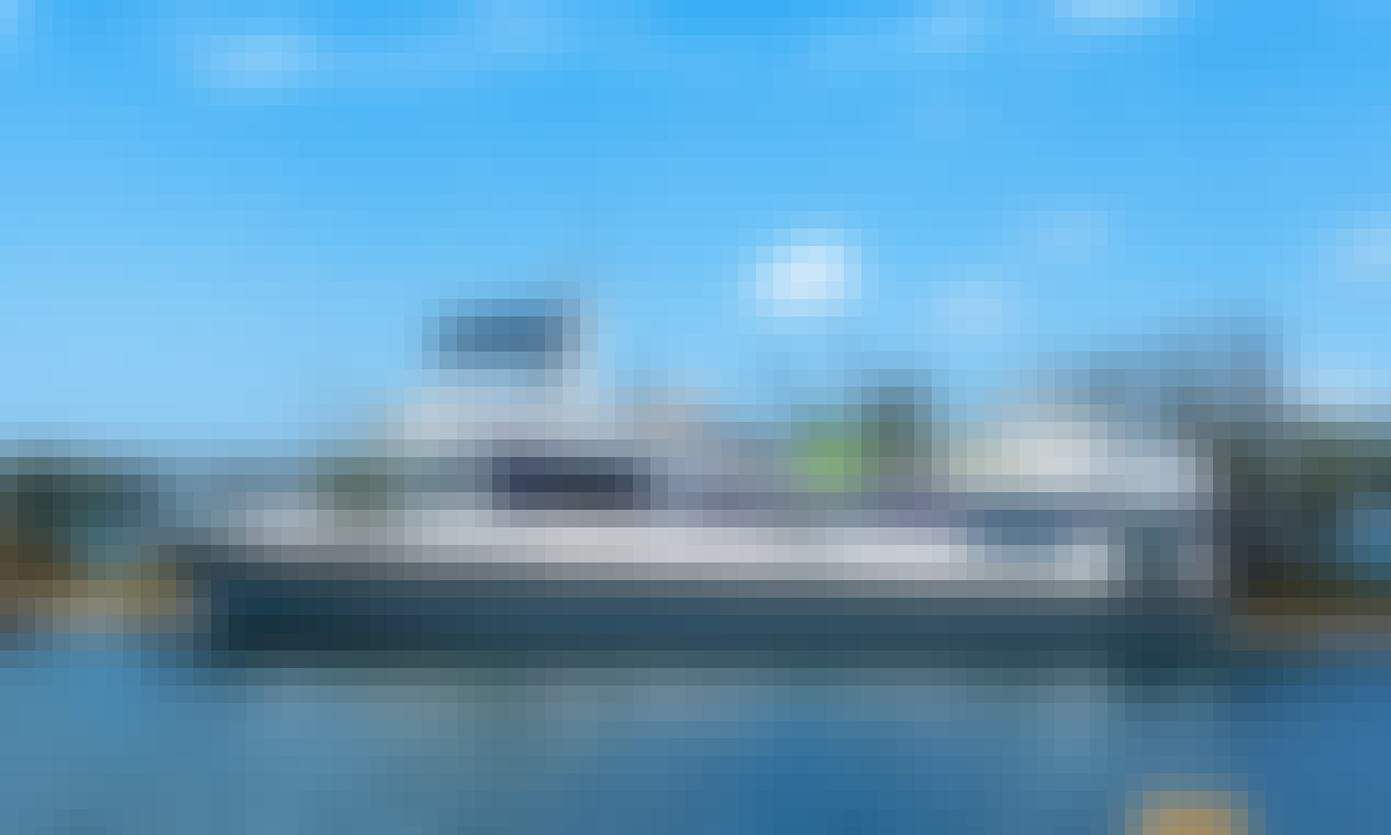 Classic Pluckebaum 62' Inclusive Boat for Recreation Cruise in Punta Gorda (wheelchair accessible)
