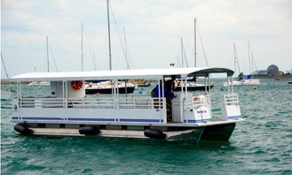 Trident 38' Pontoon Party Boat for Charter in Chicago