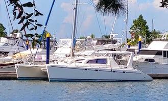 47' Sailing Catamaran on Galveston Bay