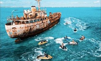 Sunken Ship Jetski Adventure in Leeward Settlement
