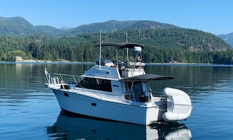 32' Yacht for Rent or Charter-Learn How to Operate a Power Boat in Victoria, BC