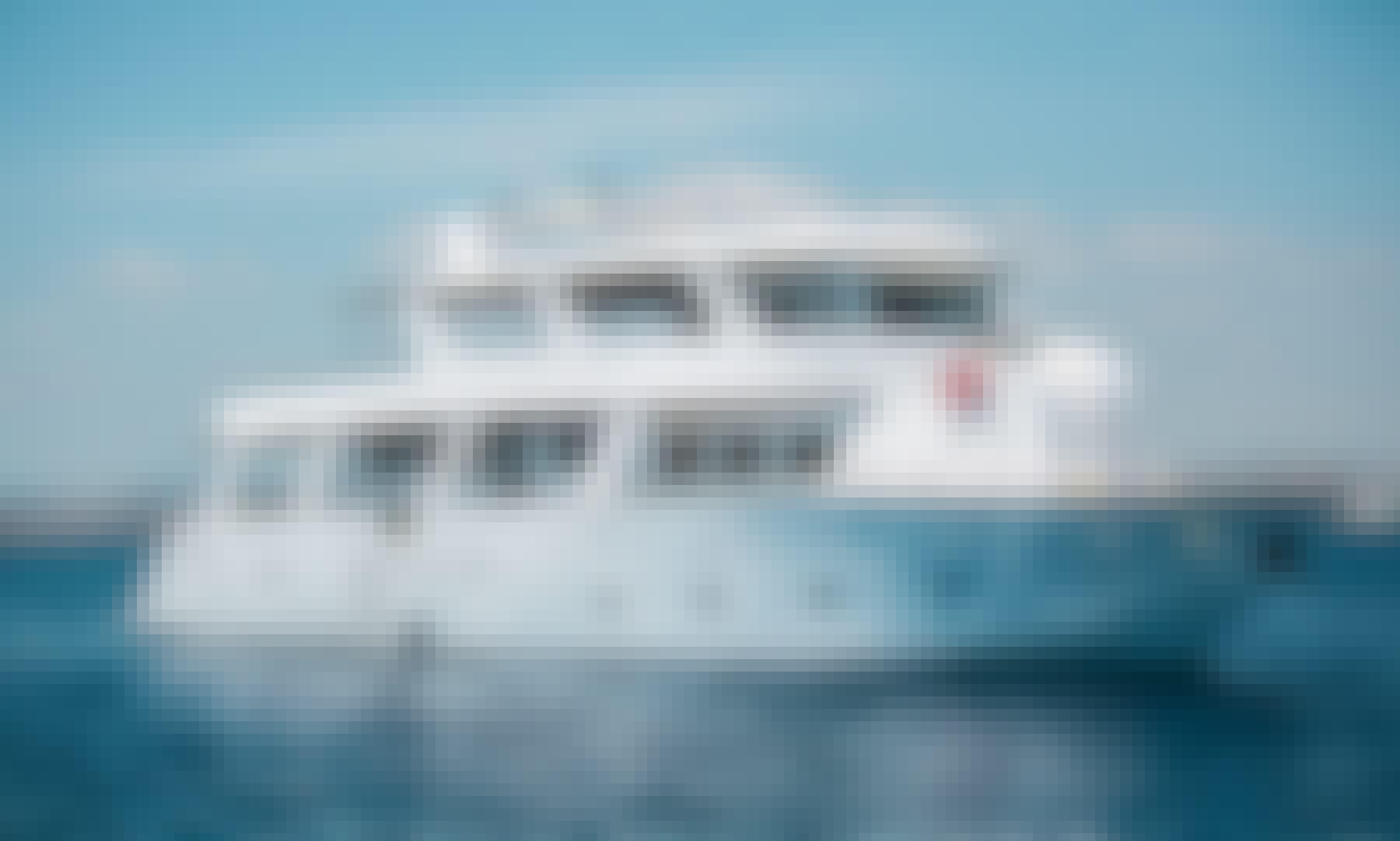 Cruising in Cyprus on 95' Power Mega Yacht