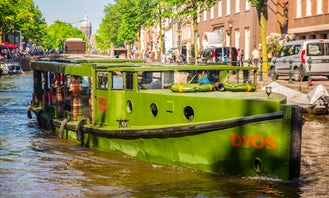 Book the 'Dyos Saloon Boat' in Amsterdam, Netherlands (100% electric)