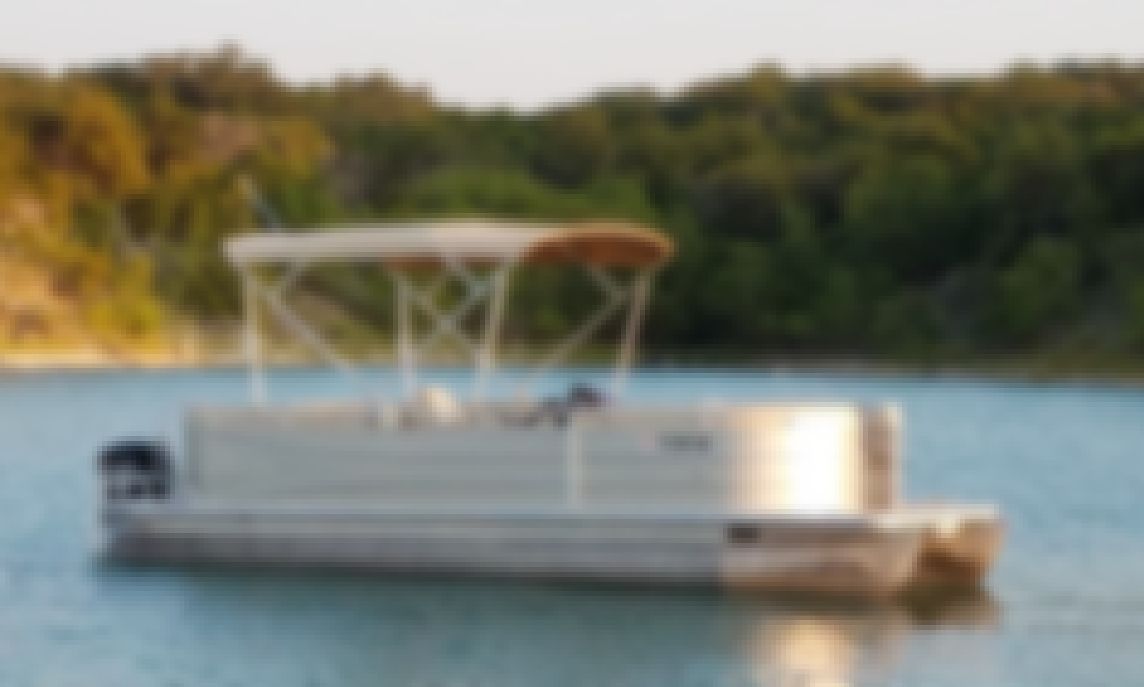 Cypress Cay Pontoon Boat Rental on the beautiful Canyon Lake!  Family Fun and Relaxation!