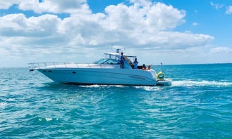 FALL SPECIAL BOOK MINIMUM 4 HOURS AND GET EXTRA HOUR ON US!!! Enjoy Miami by water on a 51' Sea Ray Express,   You only pay $250 per hour to book, and $170 per hour for capt/mate fuel and cleaning direct to Captain prior charter day. Your Yacht comes with a giant floating mat