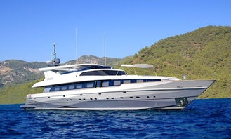 131' Power Mega Yacht Rental in Muğla, Turkey