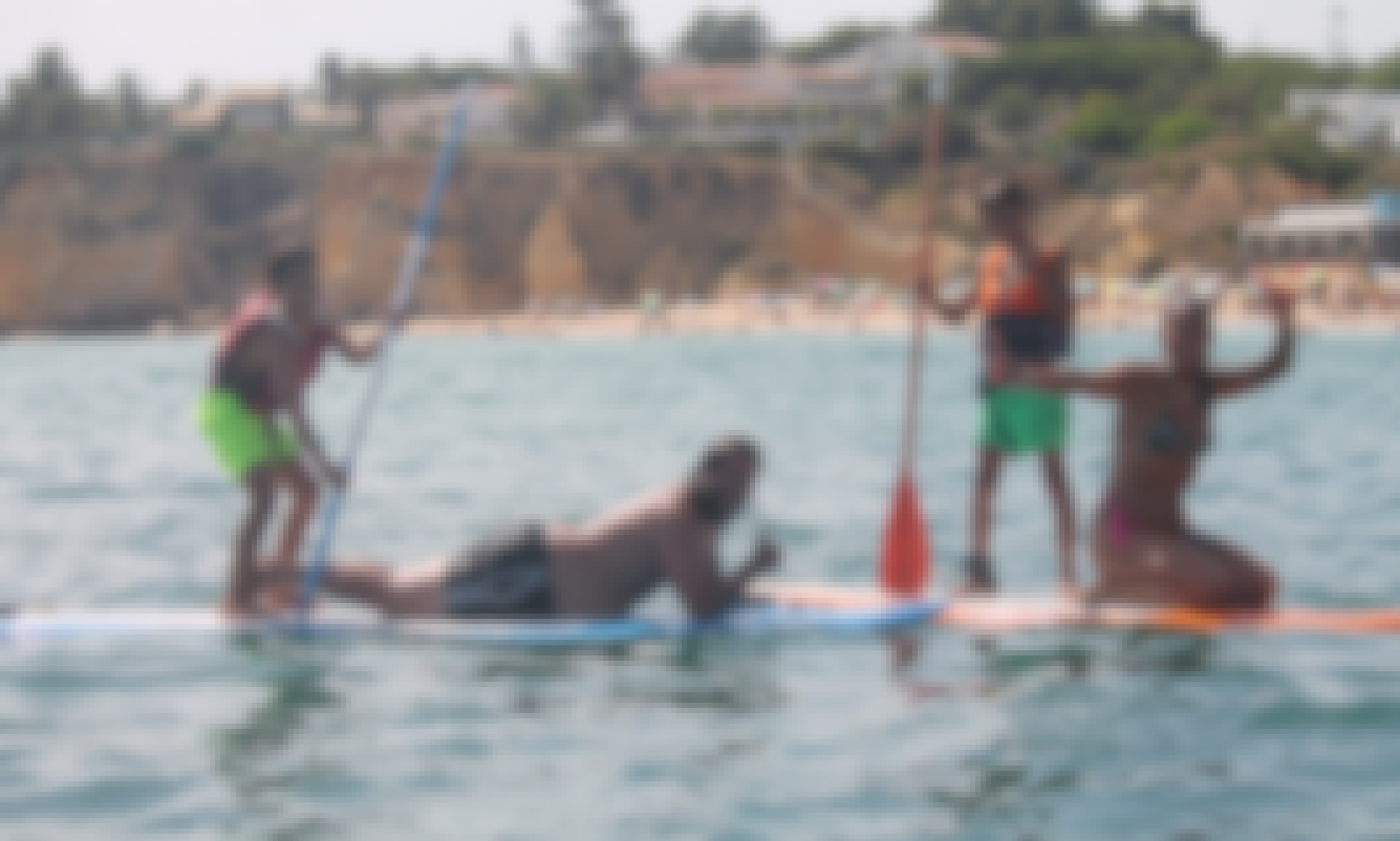 SUP - Stand Up Paddle  in Armação de Pera, Algarve, Portugal