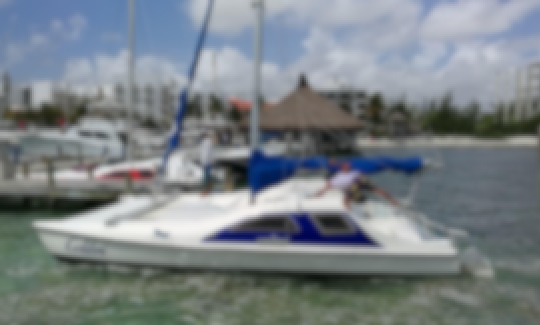 Private Cruises on 24' Seawind Sailing Catamaran Cancún Isla Mujeres Mexico