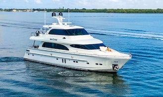 The Boss – 85′ Horizon Flybridge Yacht in Miami