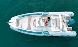 Rent the Largest Lomac 790 IN Inflatable Boat in Roses