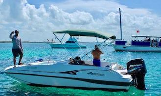 Half Day Rental (4-Hours) On 20' Godfrey Hurricane Deck Boat In Nassau, The Bahamas