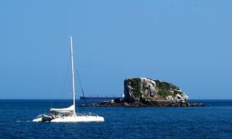 Large 80' Catamaran Boat at the Panama Bay