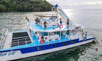 Shared Catamaran Eco Adventure in Manuel Antonio, Costa Rica