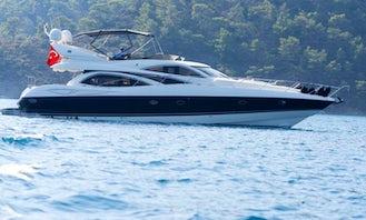 Luxury Feel 6 Person Sunseeker Motor Yacht for Rent in Muğla, Turkey