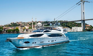 Elegant and Luxury Power Mega Yacht for 80 Guests in İstanbul only €600 per hour