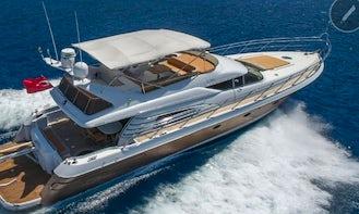 Luxury Motor Yacht for 6 Passengers in Muğla, Turkey