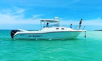 32' Boston Whaler Conquest with large cabin & AC, in Florida Keys( Big Pine Key, Marathon, Key West )