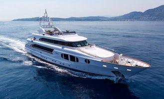 Bina Power Mega Yacht Rental in Paleo Faliro, Greece
