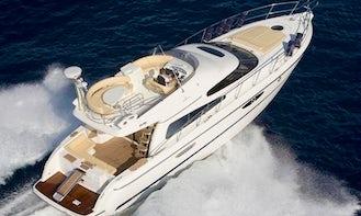 Amazing Cranchi 50 Yacht Rental in Paleo Faliro, Greece