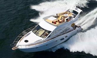 Galeon 530 Fly Power Mega Yacht Rental in Paleo Faliro, Greece