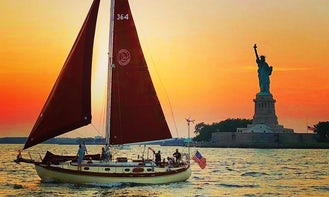 Sail NYC's skyline aboard the Genesis, a beautiful classic sailboat!