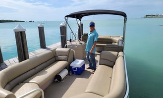 Comfortable Pontoon Boat with 4-Stroke ~ Bring the Whole Family & the Dog