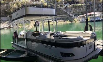 25' Double Decker Pontoon w/ slide on Lake Travis for 11 passengers!